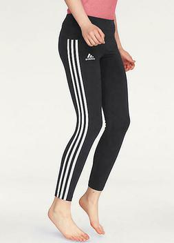 adidas girls 3 Stripe Black Athletic Tights  M L XL