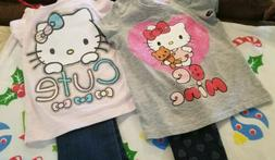 Girls 3t Clothing Lot 4 Pieces Hello Kitty Levi's Children's