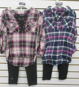 Girls Limited Too $40-$42 Pink & Dark Pink Long SL Shirt w/