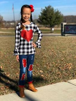 girls and toddler boutique clothing jeans outfit