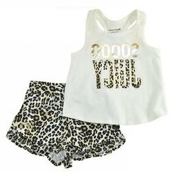Juicy Couture Girls Animal print 2pc Short Set Size 2T 3T 4T