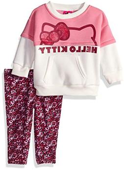 Hello Kitty Girls' Baby 2 Piece Legging Set, Multi/Pink, 18
