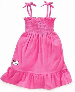 Girls Hello Kitty Beach Terry Cover-up Dress Pink