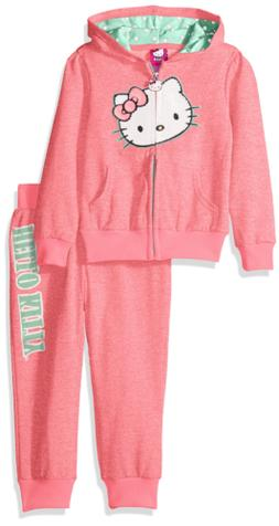 Hello Kitty Girls' Big 2 Piece Embellished Active Set, Neon