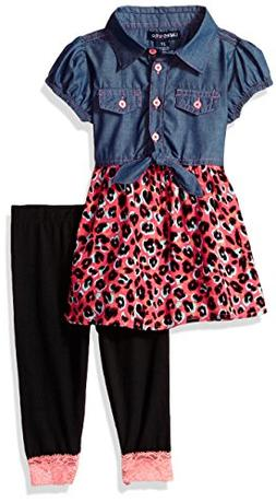 Limited Too Girls' Big Fashion Top and Legging Set, 3806 Mul