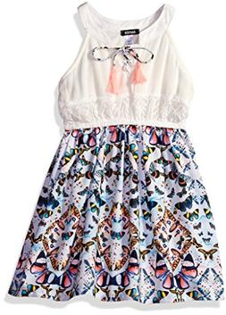 kensie Girls' Casual Dress , 2850 Multi, 8/10