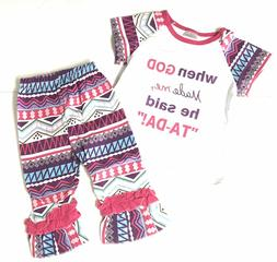Girls Clothes God Said TaDa Toddler Girl Boutique Outfit Clo