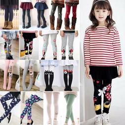 Girls Cotton Skinny Leggings Kids Stretch Pants Trousers Lon