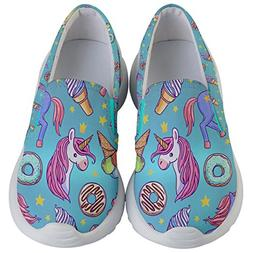 PattyCandy Girls Donuts & Unicorn Print Lightweight Slip On