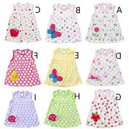 Girls Dress Summer Clothing Print Cotton A-Line