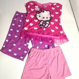 Hello Kitty Girls Flame Resistant Three Piece Capri Set Size