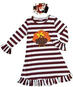Boutique Clothing Girls Fall Thanksgiving Turkey Dress Outfi