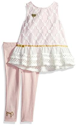 Juicy Couture Girls' Little 2 Pieces Tunic Set, Light Pink/V
