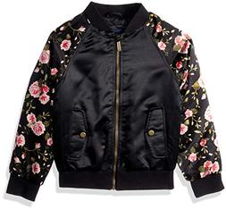 Limited Too Girls' Little Bomber Jacket with Floral Print, B
