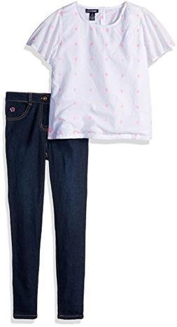 Limited Too Girls' Little Fashion Top and Pant Set , White K