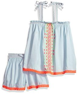kensie Girls' Little Fashion Top and Short Set, 3075 Light B