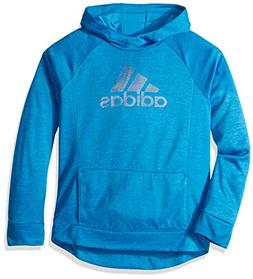 adidas Girls' Little Pullover Sweatshirt, Bright Blue, 6