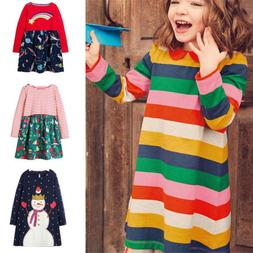 Girls Long Sleeve Dresses Animal Princess Dress Baby Girl Ki