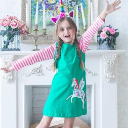 Girls Long Sleeve Princess Dresses Unicorn Dress for Baby Gi