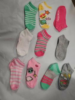 Limited Too! Girls' Low Cut No-Show Socks, 10-Pack