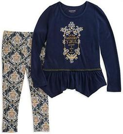 Juicy Couture Girls Navy Tunic 2pc Legging Set Size 2T 3T 4T