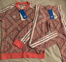 GIRLS ADIDAS ORIGINALS TRACK SUIT JACKET LEGGINGS SET CY2323