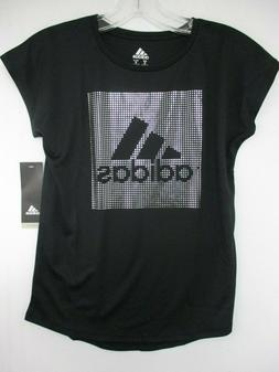 Adidas Girls Performance Tee in Black NWT sz M