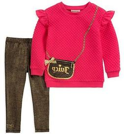 Juicy Couture Girls Pink Sweater & Legging Set Size 2T 3T 4T