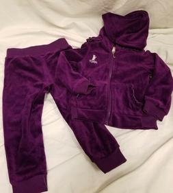 Juicy Couture Girls Purple Velour Sweatsuit Variety Size