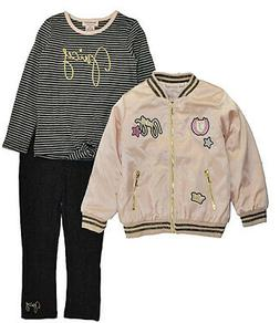 Juicy Couture Girls Rose Jacket 3pc Set Size 2T 3T 4T 4 5 6