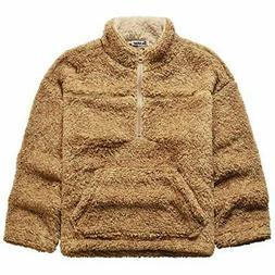 Jxstar Girls Sherpa Pullover Zip Up Jackets Kids Fleece Clot
