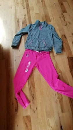 Girls size 12 pink SO Clothing sweatpants and gray/pink pull