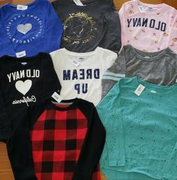 Old Navy Girls SIZE 5 Clothing Lot 8 PIECES Long Sleeve Shir