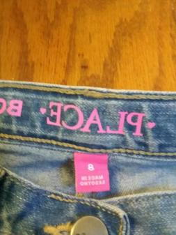 Girls size 8 BOOT CUT THE CHILDRENS PLACE NEW 3 PAIRS