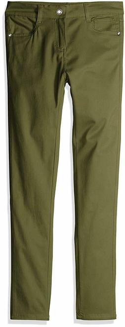 Limited Too Girls' Stretch Twill Skinny Pants, Olive Dye Gre