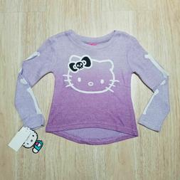 Hello Kitty Girls Thermal XS L Halloween Skeleton Sweater Sh