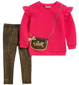 Juicy Couture Girls' Toddler 2 Pieces Tunic Legging Set, Pin