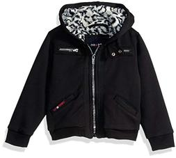 girls toddler fleece bomber with warm faux
