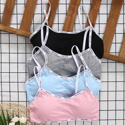 Girls Training Bra Teenage Kids Soft Breathable Cotton Under