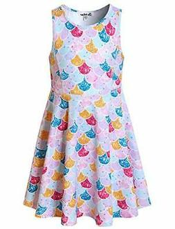 girls unicorn dresses rainbow kid 4 5y