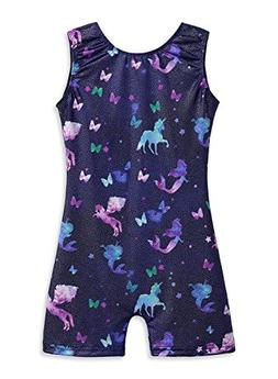 Gymnastics Leotards for Girls 5t Size 5-6 Unicorn Starry Sky