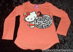 Halloween Hello Kitty Youth Girls Long Sleeve T-shirt  NEW