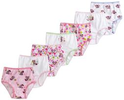 Disney Girls' Toddler Minnie Seven Pack Brief Underwear, Mul