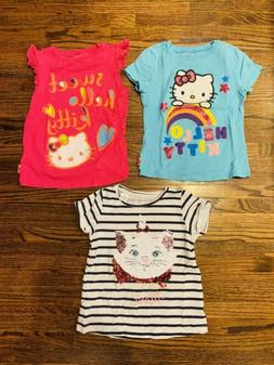 Disney And Hello Kitty Girls Clothing Lot Size 5 Three Piece