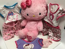 Hello Kitty Girls Stuffed Pink Animal With Six Pieces Clothi