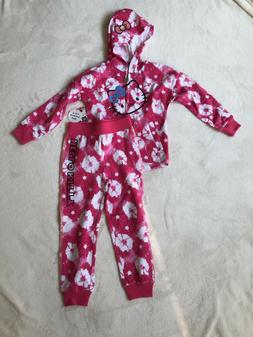 Hello KItty Little Girls' 2-Piece Set Pink Outfit Zip Hoodie