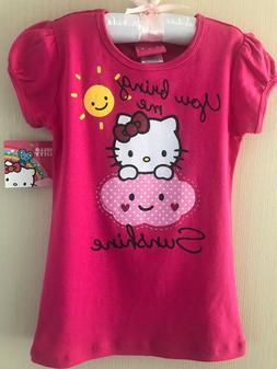 Hello Kitty Size 4 Pink Short Sleeve Tee Top Girls Clothes