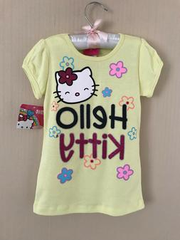Hello Kitty Size 5 Short Sleeve Tee Top Girls Clothes Yellow