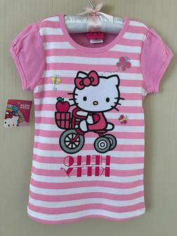 Hello Kitty Size 6 Pink Short Sleeve Tee Top Girls Clothes