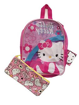 Hello Kitty Kids Toddler Girls Pink Mini Backpack and Pencil